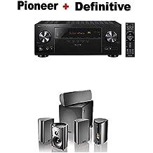 Pioneer VSX-LX103 Elite 7.2 Channel A/V Receiver + Definitive Technology Pro Cinema 800 System Black Bundle