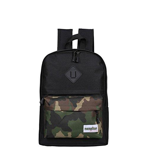 Bolsas de la escuela/Color costura mochila de gran capacidad/Mochila casual salvaje-C E