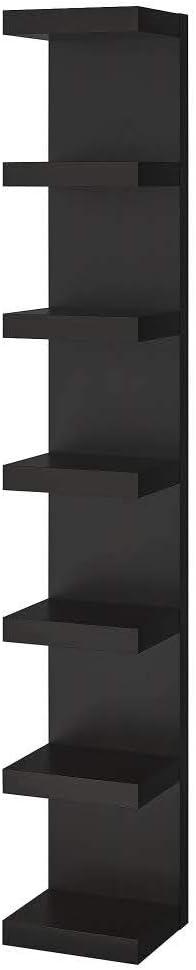 IKEA ASIA - Estantería de Pared (30 x 190 cm), Color Negro y ...