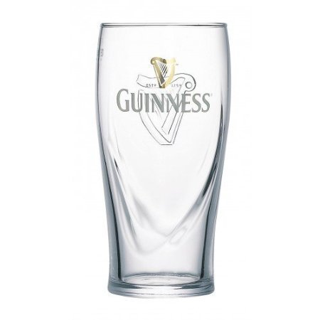 Arthur GUINNESS BEER GLASSES 6 pieces 0.5 Litre lined, PINT