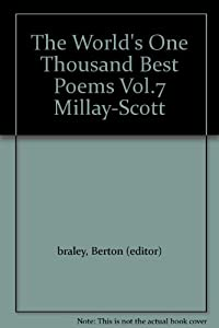 Hardcover The World's One Thousand Best Poems Vol.7 Millay-Scott Book