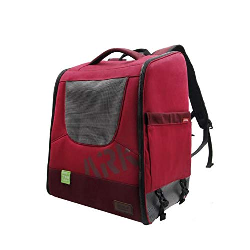 Red Premium Pet Carrier Backpack for Small Cats and Dogs   Ventilated Design, Designed for Travel, Hiking & Outdoor Use,Red