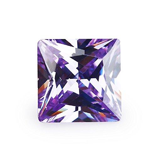 2x2~15x15MM AAAAA Square Lavender Princess Cut Loose cubic zirconia CZ Stone gemstone (3x3mm 100pcs)