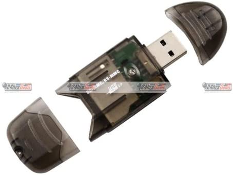 Black 5-in-1 USB 2.0 SD//MMC Dongle Card Reader//Writer