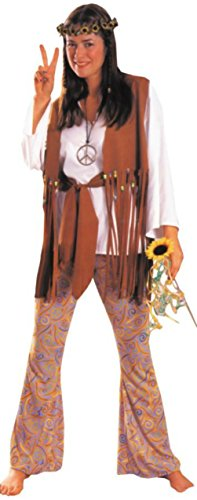 Costume Child Love (Alexanders Costumes Womens Retro Hippie Love Child Theme Party Halloween Dress, One Size (up to)