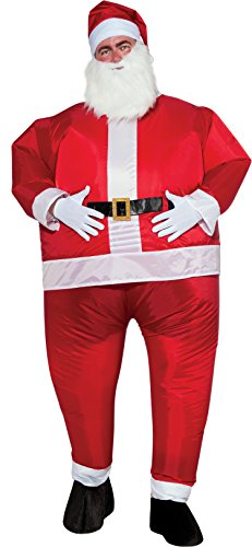 Rubie's Costume Co. Men's Inflatable Santa Claus Costume, Red, (Inflatable Santa Costume)