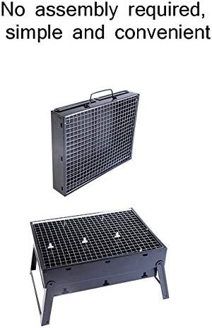 WSJIANP Barbecue Extérieur Grill,Pliage Grill Barbecue,Charbon Portable Grill Barbecue,Rectangulaire Inoxydable Grille De Barbecue Noir 30x25cm(12x10inch)