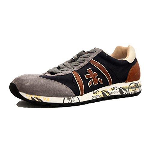 PREMIATA - Zapatillas de charol para hombre 1985