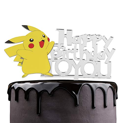 Creations Pikachu Happy Birthday To You Cake Topper