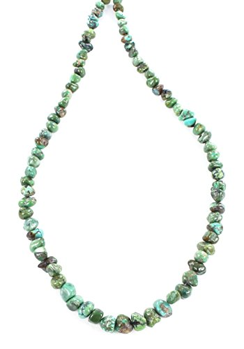 (CARICO LAKE TURQUOISE BEADS GREEN 5-8mm NUGGET)