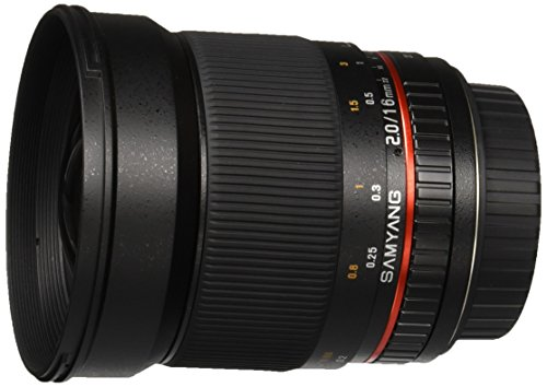Samyang SY16M-C 16mm f/2.0 Aspherical Wide Angle Lens for Canon EF Cameras by Samyang