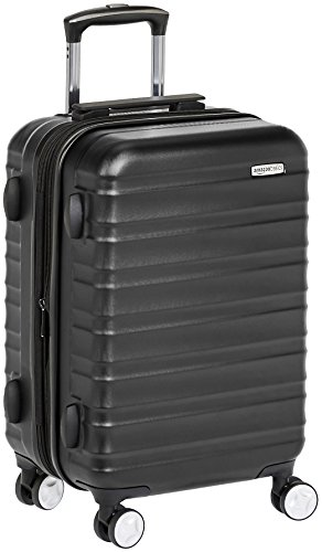 AmazonBasics Premium Hardside Spinner Luggage with Built-In TSA Lock - 20-Inch Carry-on, Black (Cruise Time Car Seat Cover)