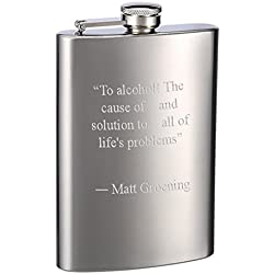 Top Shelf Flasks Engraved 8oz Hip Flasks - Personalized