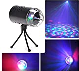 ETbotu 85-265v 3w Stage Light Sound Control Rotary RGB Stage Lamp British Rule Plug