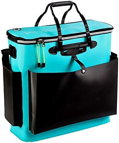 釣りボックス 肥厚釣りバレル魚ガードバレルロッド釣りギアバッグ大エヴァ魚バレル多機能釣りギア男性 釣り道具 (Color : Blue, Size : 52x53x23cm)