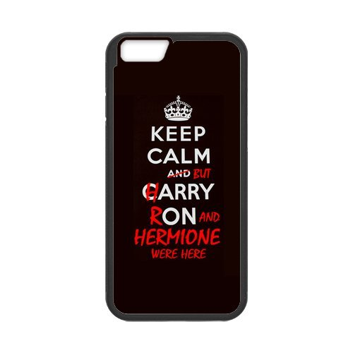 Keep Calm Series Funny Special Custom Cover Case For Iphone 6 Plus (5.5inch)(Black) with Best Silicon Rubber