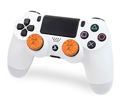 KontrolFreek Atomic for PlayStation 4 (PS4) Controller | Performance Thumbsticks | 2 Mid-Rise Convex | Orange 2