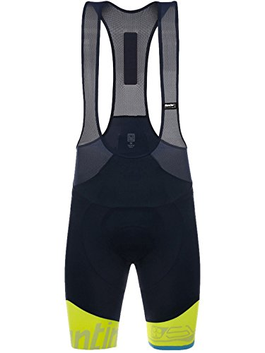 - Santini Men's Sleek 99 Bib Shorts, Flouro Yellow, Medium