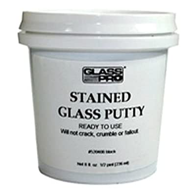 Glass Pro Stained Glass Lead Cement Putty Black 1/2 PINT (1 LB) Ready to Use