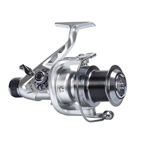 Big Saltwater/Freshwater Spinning Fishing Reel 11+1 Ball Bearings Aluminum Handle CNC Spool for Inshore,Surf fishing, Freshwater,Bass Striper Catfish Salmon Carp Left Right Hand Changeable (KM60)