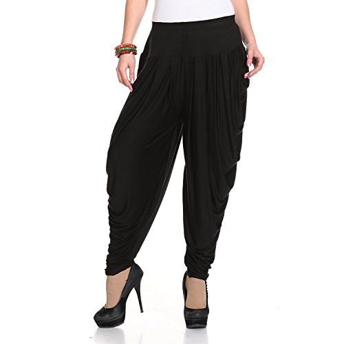 Legis Blue Relaxed Comfortable Cotton Blend Dhoti Pants Yoga Fitness Active wear for Women Dance - Free Size ()