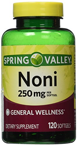 Natural Noni Vitamins Immune Health by Spring Valley,(250 mg), 120 softgels