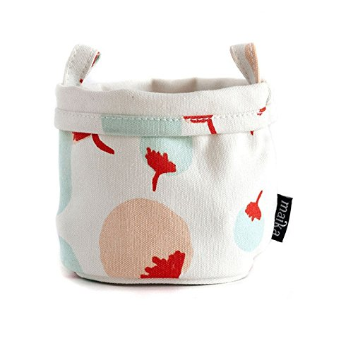 Maika Canvas Poms Bucket, Small