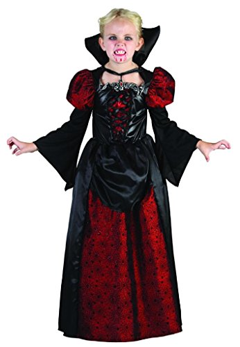 YOU LOOK UGLY TODAY Girl's Gothic Halloween Vampiress Mistress Dress-up Costume, Quality Fabric, (Mistress Costumes)