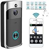 RaiFu インターホン セキュアカメラワイヤレス WiFi DoorBell スマートビデオ 電話 ドア ビジュアル リング グレー