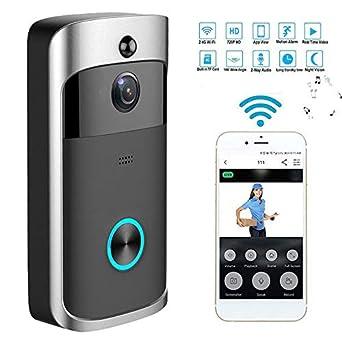 67aebd0a9b1e9 Amazon.com: OUYAWEI New Wireless WiFi DoorBell Smart Video Phone ...