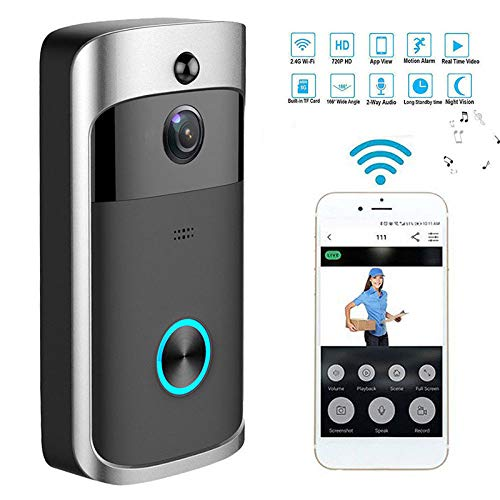 XuBa Alarma de Puerta Cámara Segura Wireless WiFi Inteligente Video Phone Visual Casa Hogar