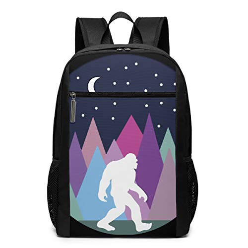 Gol Saly Kids' Mutli Color Forest Bigfoot Sasquatch Lightweight Canvas Travel Backpacks School Book Bag 17 Inch - Apparel Mutli