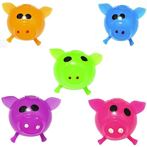 (Seplegend Stress Reliever Toy Solid Color Pig Anti Splat Water Ball Jello Decompression Squeeze Toy)