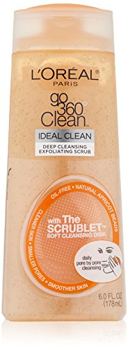 - L'Oreal Paris Go 360 Clean, Deep Cleansing Exfoliating Facial Scrub, 6.0 Ounce
