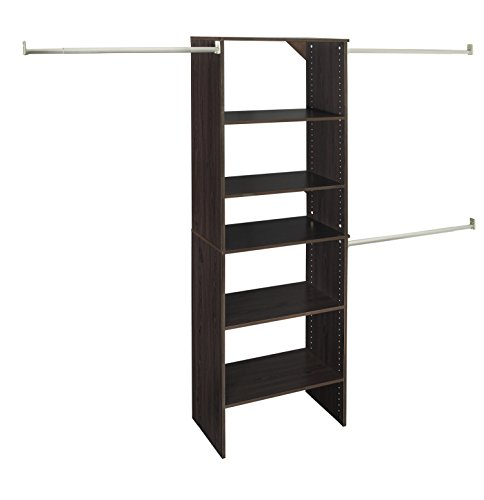ClosetMaid 88882 SuiteSymphony 25-Inch Starter Tower Kit, Espresso (Wood System Closet)