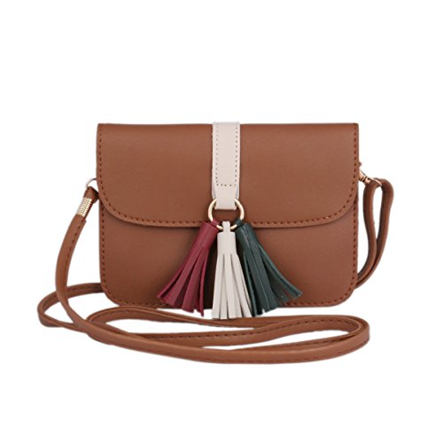 Purse Tassel Small Brown Women's Shoulder Strap Damara Bag Crossbody q7vZvpa