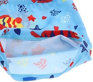 2-4年の男の子のための漫画パターン水着の調節可能な水泳のトランク