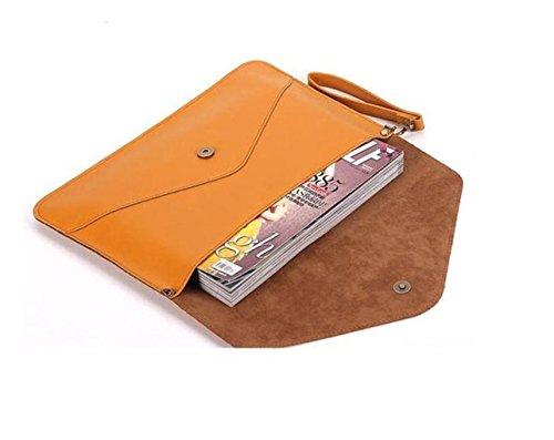 Nodykka Large Wristlet Evening Envelope Shoulder Leather Crossbody Bag Purses Darkbrown Clutch Handbags rwqfXarS