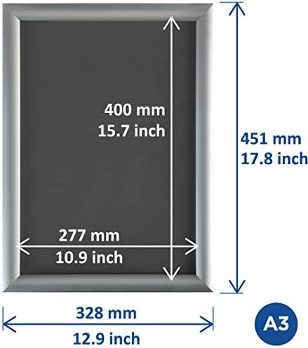 Black 25mm Snap Frames with Mitred Corners School//Office//Shop A4,A3,A2,A1