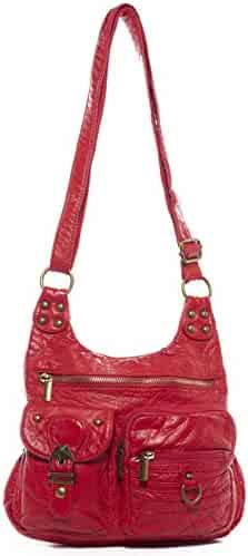 ded693a7a337 The Aria Crossbody Handbag Hobo Tote Soft Vegan Leather by Ampere Creations