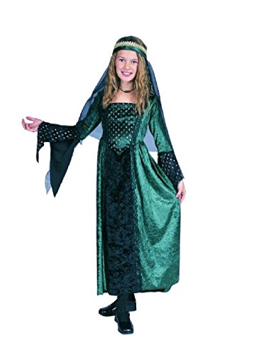 Priest Or Monk Wig (OvedcRay Renaissance Girl Costume Renaissance Princess Juliet Child Costumes Purple Green)
