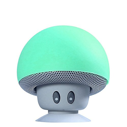TinyFin-Mini-Bluetooth-Wireless-Portable-Mushroom-Speaker-With-Sucker-Function-Green-For-Smartphone