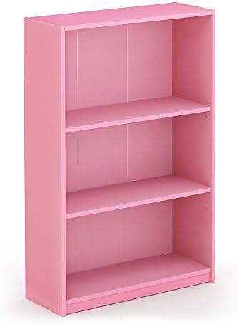 FURINNO 14151R1PI Simple Adjustable Bookcase