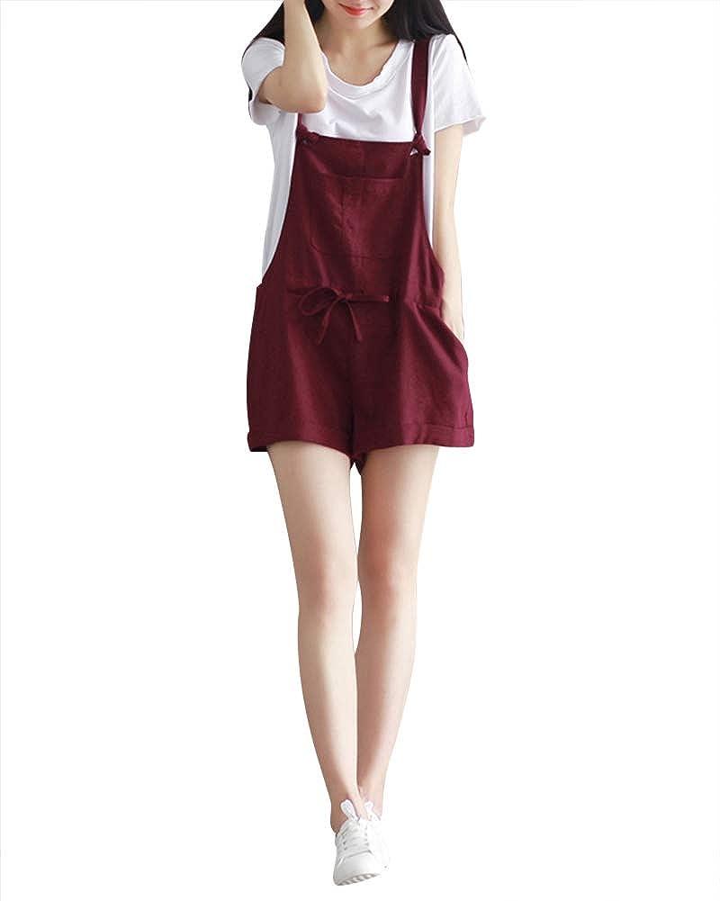 ZhuiKunA Salopette Corta Donna,Tuta Pantaloncino Larghi Overall Partito