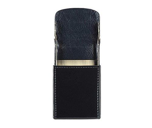 WITTCHEN caso, Blu Marino, Dimensione: 10.5x6.5 cm - Materiale: Pelle verniciata - 25-2-151-N