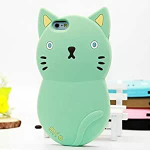 LCJ Meng Meng Cat Silicone Shell Cases for iPhone 5/5S (Assorted Colors) , Light Brown