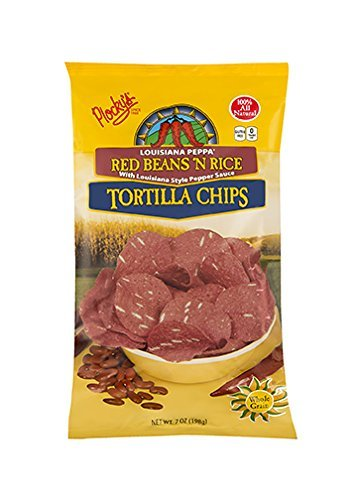 Plocky's Tortilla Chips, Red Beans 'N Rice, 7-Ounce Bags (Pack of 12) by Plocky's (Plockys Tortilla Chips)
