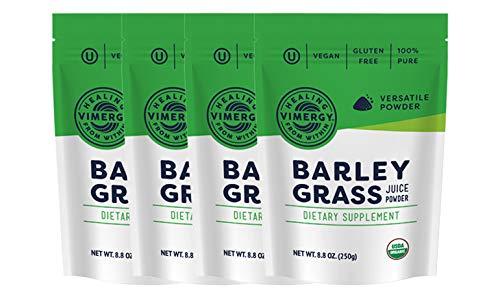 Vimergy USDA Organic Barleygrass Juice Powder (250g) X 4 Bags (Best Food For Anemic Person)