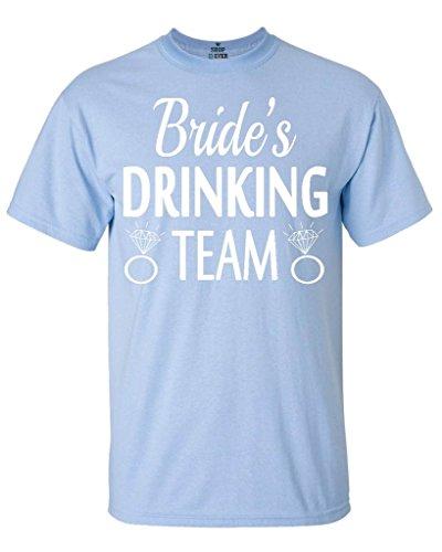 Shop4Ever Bride's Drinking Team T-Shirt Wedding Shirts X-Large Light Blue0 (T-shirt Drinking Team Light)