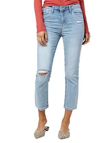 IVY & MAIN Crop Light Blast Straight Leg Jeans, Lightblast, 5